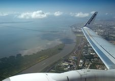 Aerial view of Lisbon - Vasco da Gama Bridge Stock Photos