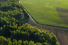 Aerial  view of Lithuanian countryside Royalty Free Stock Images