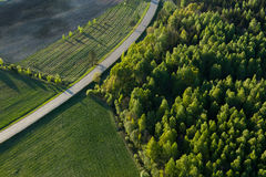 Aerial  view of Lithuanian countryside Stock Images