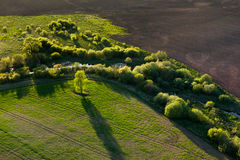 Aerial  view of Lithuanian countryside Stock Photography