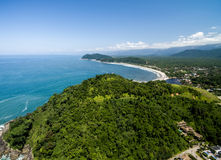 Aerial view of Litoral Norte in Sao Paulo, Brazil Royalty Free Stock Photos