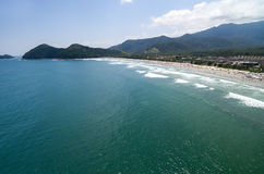 Aerial view of Litoral Norte in Sao Paulo, Brazil Royalty Free Stock Photography