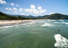 Aerial view of Litoral Norte in Sao Paulo, Brazil Stock Photo
