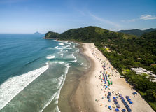 Aerial view of Litoral Norte in Sao Paulo, Brazil Royalty Free Stock Images