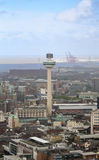 An Aerial View of Liverpool Looking Northwest Royalty Free Stock Image
