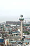 An aerial view of Liverpool Royalty Free Stock Photo