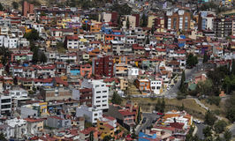 Aerial view of living district in Naucalpan. Middle class apartment homes in the metropolitan area of mexico city stock photography