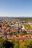 Aerial view of Ljubljana Stock Images