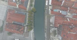 Aerial view of Ljubljana stock video