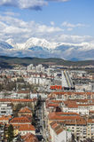 Ljubljana cityscape with mountains Stock Photography