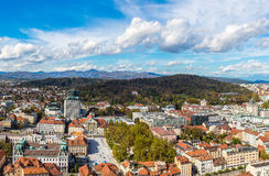 Aerial view of Ljubljana in Slovenia Stock Photos