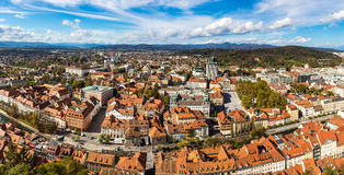 Aerial view of Ljubljana in Slovenia Royalty Free Stock Images