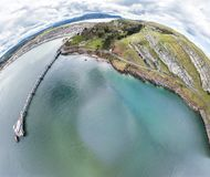 Aerial view of Llandudno with pier in Wales - United Kingdom.  Stock Photos