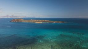 Lobos island. Aerial view of lobos island, fuerteventura, canary islands Stock Photography