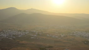 Aerial view of local villages at Paros island in Greece. stock footage