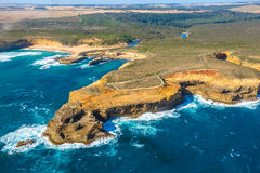 Aerial view of Loch Ard Gorge Stock Image