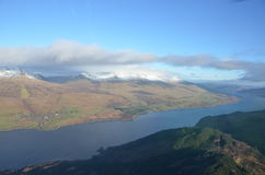 Aerial View of Loch Tay Royalty Free Stock Photography