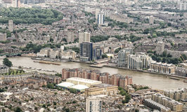 Aerial view of London along river Thames Royalty Free Stock Photos