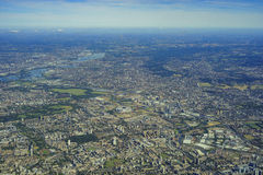 Aerial view of London Royalty Free Stock Photos