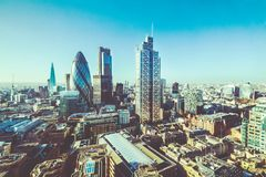 Aerial view of London buildings. royalty free stock photography