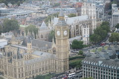 Aerial View of London. Buildings and Street view of England stock photo