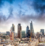 Aerial view of London Buildings - UK Royalty Free Stock Photography