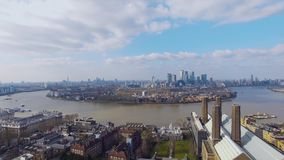 Aerial View of London City Footage stock video