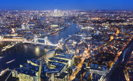 Aerial view of London city Stock Photography