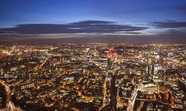 Aerial view of London city in United Kingdom. Stock Image