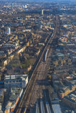 Aerial view of London cityscape Royalty Free Stock Image