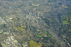 Aerial view of London. Aerial view of Crydon, South Crydon, Waddon, Waddon Ponds, Thornton Heath of United Kingdom Stock Image
