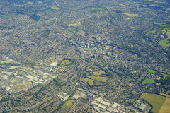 Aerial view of London. Aerial view of Crydon, South Crydon, Waddon, Waddon Ponds, Thornton Heath of United Kingdom Royalty Free Stock Photo