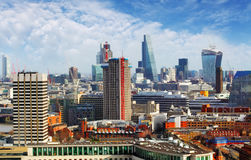 Aerial view of London, England royalty free stock images