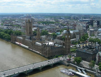 Aerial view of London, England, UK Royalty Free Stock Photos
