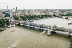Aerial view from London eye. Royalty Free Stock Photos