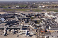 Aerial view of the London Heathrow Airport Royalty Free Stock Photo