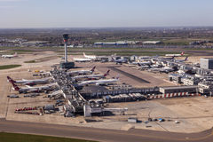 Aerial view of the London Heathrow Airport Stock Image