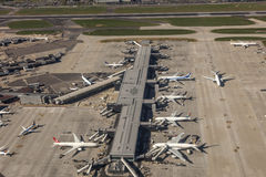 Aerial view of the London Heathrow Airport Royalty Free Stock Photography