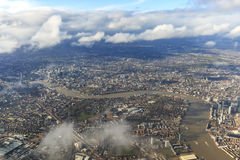 Aerial view of London with the river Thames Royalty Free Stock Images