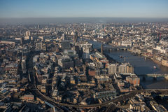 Aerial view of London. Seen from the Shard Stock Photography