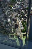 Aerial view of London from the Shard. Royalty Free Stock Image