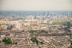 Aerial view of London skyline and buildings, UK Royalty Free Stock Image