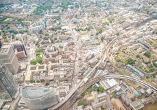 Aerial view of London skyline, UK.  Stock Photo