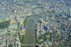 Aerial view of London Royalty Free Stock Image
