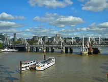 Beautiful aerial view of London in England royalty free stock images