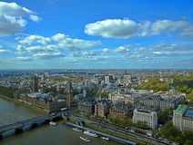 Beautiful aerial view of London in England stock photos