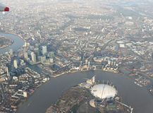 Aerial view of London town Royalty Free Stock Image