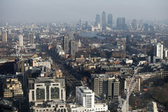 Aerial view of London from the Walkie Talkie building on 20 Fenchurch Street . Stock Photos