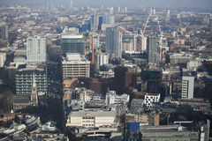 Aerial view of London from the Walkie Talkie building on 20 Fenchurch Street . Royalty Free Stock Photography