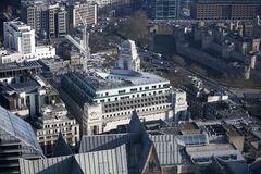 Aerial view of London from the Walkie Talkie building on 20 Fenchurch Street . Royalty Free Stock Photo